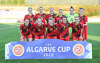 20200304  Parchal , Portugal : Belgian Davina Philtjens (2) , Belgian Heleen Jaques (4), Belgian Tine De Caigny (6), Belgian Tessa Wullaert (9) , Belgian Justine Vanhaevermaet (10), Belgian Janice Cayman (11), Belgian Elena Dhont (13), Belgian Charlotte Tison (15), Belgian Marie Minnaert (16), Belgian Laura De Neve (18) and Belgian Nicky Evrard (21) posing for the teampicture during the female football game between the national teams of New Zealand , known as the Football Ferns and Belgium called the Red Flames on the first matchday of the Algarve Cup 2020 , a prestigious friendly womensoccer tournament in Portugal , on wednesday 4 th March 2020 in Parchal , Portugal . PHOTO SPORTPIX.BE   DAVID CATRY