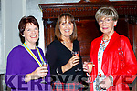Collette O'Neill, Maeve Roche and Pauline Matthews at the Killlarney Rotary club charity fashion afternoon tea show in the Great Southern Hotel on Saturday