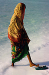 Djibouti. Lake Assal. Afar woman.
