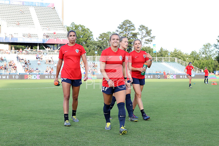 Cary, North Carolina  - Saturday June 15, 2019: North Carolina Courage vs Portland Thorns FC at Sahlen's Stadium at WakeMed Soccer Park.