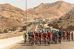 The peleton in action during Stage 6 of the 2018 Tour of Oman running 135.5km from Al Mouj Muscat to Matrah Cornich. 18th February 2018.<br /> Picture: ASO/Muscat Municipality/Kare Dehlie Thorstad | Cyclefile<br /> <br /> <br /> All photos usage must carry mandatory copyright credit (&copy; Cyclefile | ASO/Muscat Municipality/Kare Dehlie Thorstad)