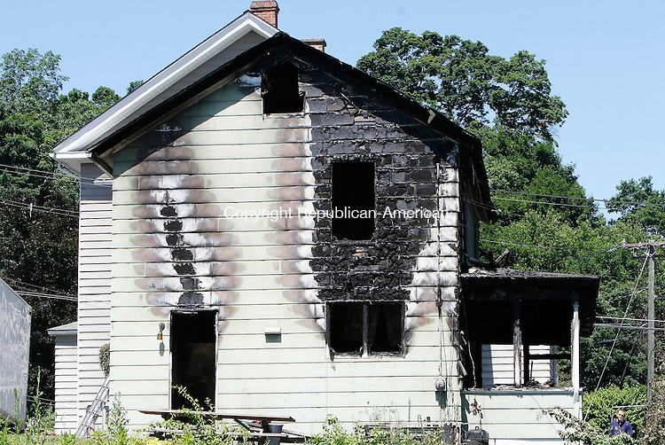 THOMASTON, CT 07/19/09- 071909BZ02- This home at 69 Electric Ave. in Thomaston was destroyed by fire Saturday night. <br /> Jamison C. Bazinet Republican-American