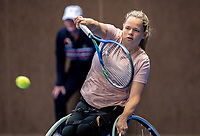 Alphen aan den Rijn, Netherlands, December 13, 2018, Tennispark Nieuwe Sloot, Ned. Loterij NK Tennis, Wheelchair, Donna Jansen (NED)<br /> Photo: Tennisimages/Henk Koster