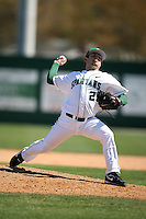 February 20, 2009:  Pitcher Kurtis Frymier (29) of Michigan State University during the Big East-Big Ten Challenge at Jack Russell Stadium in Clearwater, FL.  Photo by:  Mike Janes/Four Seam Images