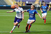 20190813 - ANDERLECHT, BELGIUM : Anderlecht's Jana Coryn (9) pictured during the female soccer game between the Belgian RSCA Ladies – Royal Sporting Club Anderlecht Dames and the Northern Irish Linfield ladies FC , the third and final game for both teams in the Uefa Womens Champions League Qualifying round in group 8 , Tuesday 13 th August 2019 at the Lotto Park Stadium in Anderlecht , Belgium  .  PHOTO SPORTPIX.BE | STIJN AUDOOREN