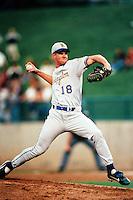 Jeff Austin of the Wilmington Blue Rocks during the California League / Carolina League All Star Game at The Diamond circa 1999 in Lake Elsinore, California. (Larry Goren/Four Seam Images)