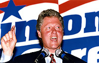 Bill Clinton speaking to supporters of his Presidential campaign at the Park Plaza Hotel in Boston MA 9.25.92