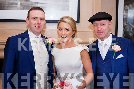 Dennehy/Healy-Rea wedding in Ballygarry House Hotel on Saturday February 24th. Michael Healy-Rea standing with his daughter Juilette and her husband Patrick Dennehy.