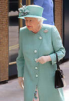 Her Majesty Queen Elizabeth II visits a replica of one of the original Sainsbury's stores in Covent Garden, London, on the occasion of their 150th anniversary.<br /> <br /> Photo by Keith Mayhew