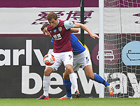 Burnley's Chris Wood battles with Brighton & Hove Albion's Lewis Dunk<br /> <br /> Photographer Dave Howarth/CameraSport<br /> <br /> The Premier League - Burnley v Brighton & Hove Albion - Sunday 26th July 2020 - Turf Moor - Burnley<br /> <br /> World Copyright © 2020 CameraSport. All rights reserved. 43 Linden Ave. Countesthorpe. Leicester. England. LE8 5PG - Tel: +44 (0) 116 277 4147 - admin@camerasport.com - www.camerasport.com