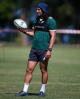 DURBAN, SOUTH AFRICA -Monday February 18th: Jonathan Ruru of the Blues during the Blues Training at Northwood School Durban North, on February 18th, 2019 in Durban, South Africa. Photo by Steve Haag / stevehaagsports.com