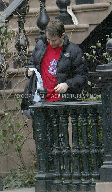 WWW.ACEPIXS.COM . . . . .  ....NEW YORK, MARCH 25, 2005....Matthew Broderick is seen leaving his downtown home.....Please byline: Ian Wingfield - ACE PICTURES..... *** ***..Ace Pictures, Inc:  ..Craig Ashby (212) 243-8787..e-mail: picturedesk@acepixs.com..web: http://www.acepixs.com