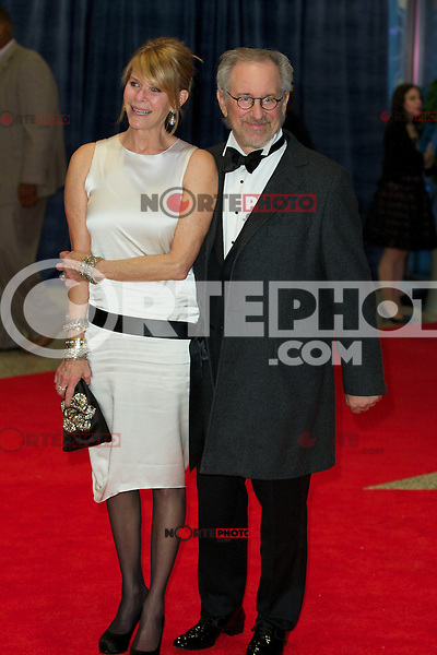 WASHINGTON, DC - APRIL 28:  Kate Capshw and Stephen Spielberg attend the 2012 White House Correspondents Dinner at the Washington Hilton Hotel in Washington, D.C  on April 28, 2012  ( Photo by Chaz Niell/Media Punch Inc.)
