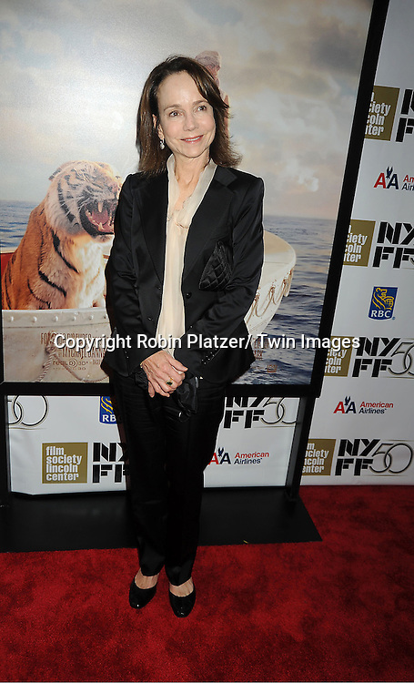"actress Jessica Harper attends the 50th Annual New York Film Festival Opening Night Gala presentation of ""Life of Pi"" starring Suraj Sharma and directored by Ang Lee on September 28, 2012 in New York City. The screening was at Alice Tully Hall at Lincoln Center."