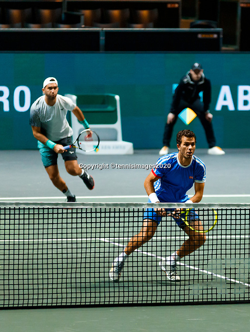 Rotterdam, The Netherlands, 9 Februari 2020, ABNAMRO World Tennis Tournament, Ahoy, Doubles: Jean-Julien Rojer (NED) and Horia Tecau (ROU).<br /> Photo: www.tennisimages.com