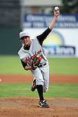 July 14th 2008:  Pitcher Aaron Odom of the Aberdeen Ironbirds, Class-A affiliate of the Baltimore Orioles, during a game at Dwyer Stadium in Batavia, NY.  Photo by:  Mike Janes/Four Seam Images