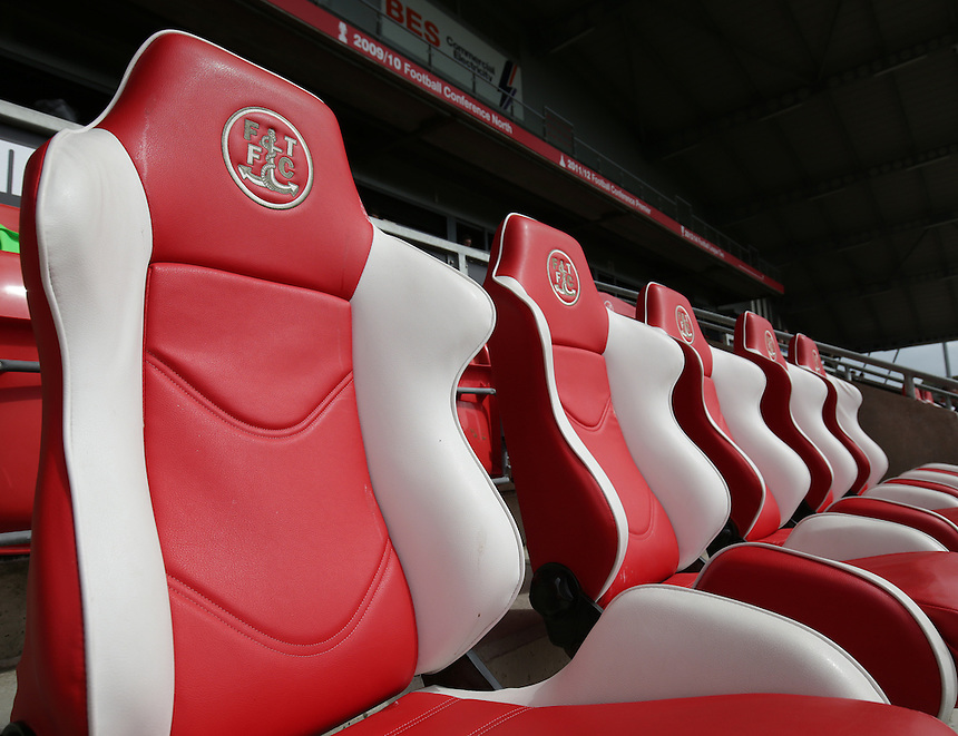 A general view of Highbury Stadium, home of Fleetwood Town<br /> <br /> Photographer Stephen White/CameraSport<br /> <br /> Football - The Football League Sky Bet League One - Fleetwood Town v Colchester United - Saturday 22nd August 2015 - Highbury Stadium - Fleetwood<br /> <br /> &copy; CameraSport - 43 Linden Ave. Countesthorpe. Leicester. England. LE8 5PG - Tel: +44 (0) 116 277 4147 - admin@camerasport.com - www.camerasport.com
