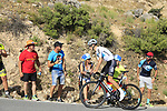 David De La Cruz (ESP) Team Sky on the slopes of Sierra de la Alfaguara near the finish of Stage 4 of the La Vuelta 2018, running 162km from Velez-Malaga to Alfacar, Sierra de la Alfaguara, Andalucia, Spain. 28th August 2018.<br /> Picture: Eoin Clarke | Cyclefile<br /> <br /> <br /> All photos usage must carry mandatory copyright credit (&copy; Cyclefile | Eoin Clarke)
