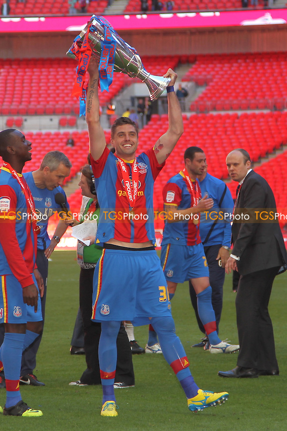 André Moritz of Crystal Palace With the trophy - Crystal Palace vs Watford - NPower Championship Play-Off Final at Wembley Stadium, London - 27/05/13 - MANDATORY CREDIT: Simon Roe/TGSPHOTO - Self billing applies where appropriate - 0845 094 6026 - contact@tgsphoto.co.uk - NO UNPAID USE