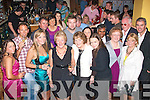 5577-5580.---------.Party Fun.---------.Helena Leahy(front 4th from the Lt)from Ballymac,Tralee,got a hugh birthday surprize when she went into Val's bar/restaurant Bridge St,Tralee,last Saturday night to find a large gathering of family and friends to help her celebrate her special day.