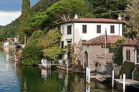 Switzerland, Ticino, Morcote: Villa at lake | Schweiz, Tessin, Morcote: Villa am Wasser