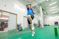 Picture by Allan McKenzie/SWpix.com - 05/04/2018 - Cricket - Yorkshire County Cricket Club Training - Headingley Cricket Ground, Leeds, England - David Willey bowls in the nets.