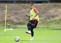 Carlos Salcedo (Eintracht Frankfurt) - 28.08.2018: Eintracht Frankfurt Training, Commerzbank Arena, DISCLAIMER: DFL regulations prohibit any use of photographs as image sequences and/or quasi-video.