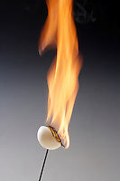 CELLULOID PING PONG BALL BURNS RAPIDLY<br />