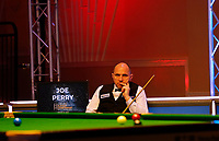 25th February 2020; Waterfront, Southport, Merseyside, England; World Snooker Championship, Coral Players Championship; Joe Perry (ENG) waits to play his next shot during his first round match against Neil Robertson (AUS)