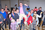 Bobby O'Connell celebrates with his family and friends after being elected in the Killarney Area on Sunday evening