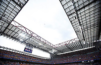 Calcio, finale di Champions League: Real Madrid vs Atletico Madrid. Stadio San Siro, Milano, 28 maggio 2016.<br /> A view of San Siro stadium, prior to the start of  the Champions League final match between Real Madrid and Atletico Madrid, in Milan, 28 May 2016.<br /> UPDATE IMAGES PRESS/Isabella Bonotto