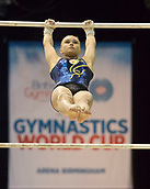 21st March 2018, Arena Birmingham, Birmingham, England; Gymnastics World Cup, day one, womens competition; Angelina Melnikova (RUS) on the Uneven Bars during  Training