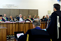 Roma, 24 Ottobre 2018<br /> La corte, il  Giudice Vincenzo Capozza .<br /> Processo Cucchi Bis contro 5 Carabinieri accusati della morte di Stefano Cucchi