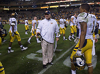 Head coach Jeff Tedford of California gets drenched after Cal defeated Arizona State at Sun Devil Stadium in Tempe, California on November 25th, 2011 -  California defeated Arizona State  47  - 38