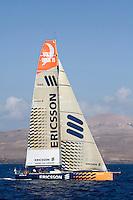 ERICSSON RACING TEAM training in Puerto Calero, Lanzarote, Islas Canarias, Spain.