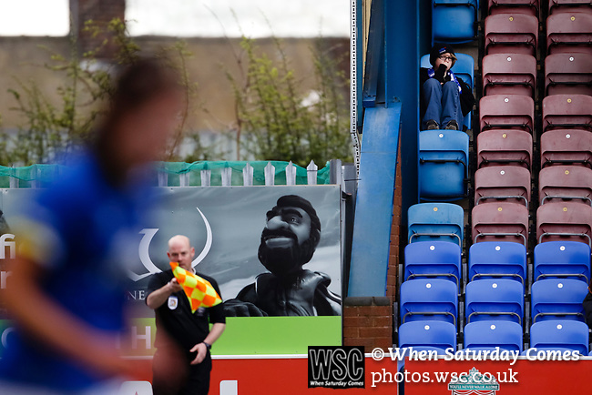 Liverpool Ladies 2 Everton Ladies 1, 19/03/2017. Select Security Stadium, SSE FA Cup Fifth Round. An Everton fan during the game between Liverpool Ladies v Everton Ladies at The Select Security Stadium, Widnes, in the Women's SSE FA Cup Fifth Round. Photo by Paul Thompson.