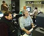 Tom Ferrara and Andreas Constantinou at Newsday Photo Dept in Melville on Tuesday November 14, 2006. (Photo Copyright Jim Peppler 2006).