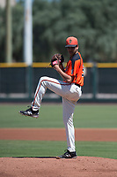 San Francisco Giants Orange starting pitcher Julio Rodriguez (61) delivers a pitch during an Extended Spring Training game against the Seattle Mariners at the San Francisco Giants Training Complex on May 28, 2018 in Scottsdale, Arizona. (Zachary Lucy/Four Seam Images)