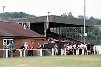 The main stand at Chalfont St Peter FC Football Ground, The Playing Fields, Amersham Road, Chalfont St Peter, Buckinghamshire, pictured on 24th August 1991