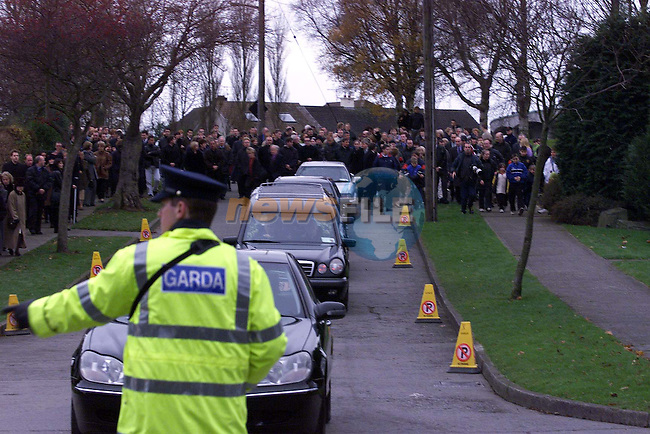 The funeral of Jean Corr, mother of The Corrs passing through Dundalk yesterday..Picture: Newsfile.Manadatory Byline