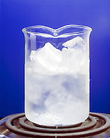 ICE CUBES MELTING IN A BEAKER<br />