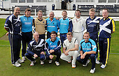 Cricket - Greenock XI v Cricket Scotland Presidents XI to celebrate Greenock CC's 150th Anniversary - at Glenpark - current and former Scotland International players who played in the game - (back l to r) - Paul Hoffmann - Gordon Drummond - Neil McCallum - Tony Judd - Andy Goram - Fraser Watts - Dougie Lockhart - Bruce Patterson - (front l to r) - Gregor Maiden - Gordon Gudie - Richie Berrington and Andy Tennant - 26.8.12 - 07702 319 738 - clanmacleod@btinternet.com - www.donald-macleod.com