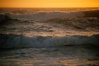 California, Moss Landing, Pacific Ocean at sunset