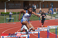 Ladue senior Kaitlen Crawford runs to victory in the 300 hurdles in 47.63 at the 2016 MSHSAA Class 4 District 3 Track and Field Meet at Ladue High School, St. Louis, Saturday, May 14.