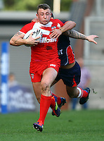 PICTURE BY VAUGHN RIDLEY/SWPIX.COM...Rugby League - International Friendly - England Knights v France - Leigh Sports Village, Leigh, England - 15/10/11…England's Josh Charnley.