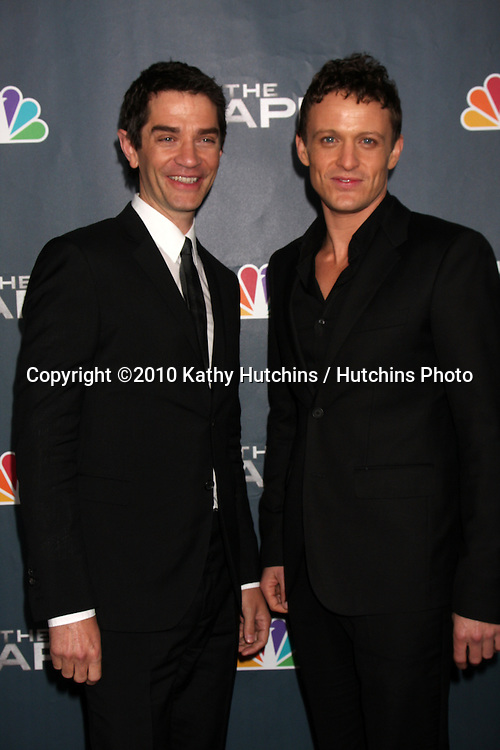 "LOS ANGELES - JAN 4:  James Frain, David Lyons arrives at ""The Cape"" Premiere Party at Music Box Theater on January 4, 2011 in Los Angeles, CA."