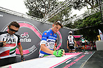 Giulio Ciccone (ITA) Bardiani-CSF at sign on before the start of Stage 21 of the 2018 Giro d'Italia, running 115km around the centre of Rome, Italy. 27th May 2018.<br /> Picture: LaPresse/Massimo Paolone | Cyclefile<br /> <br /> <br /> All photos usage must carry mandatory copyright credit (&copy; Cyclefile | LaPresse/Massimo Paolone)
