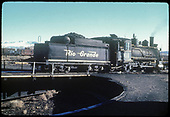 D&amp;RGW #361 C-21 on turntable.<br /> D&amp;RGW