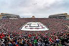 January 1, 2019; Four A-10 aircraft fly over Notre Dame Stadium after the national anthem at  the start of the 2019 NHL Winter Classic hockey game in Notre Dame Stadium. (Photo by Matt Cashore/University of Notre Dame)
