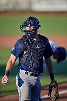 David Fry (5) of the Helena Brewers on defense against the Ogden Raptors at Lindquist Field on July 14, 2018 in Ogden, Utah. Ogden defeated Helena 8-6. (Stephen Smith/Four Seam Images)